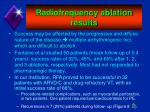 radiofrequency ablation results