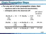 chain propagation steps