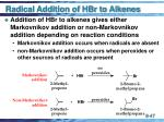 radical addition of hbr to alkenes