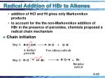 radical addition of hbr to alkenes48