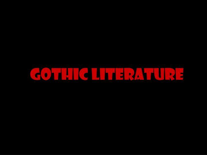 gothic literature n.