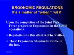 ergonomic regulations it s a matter of when not if