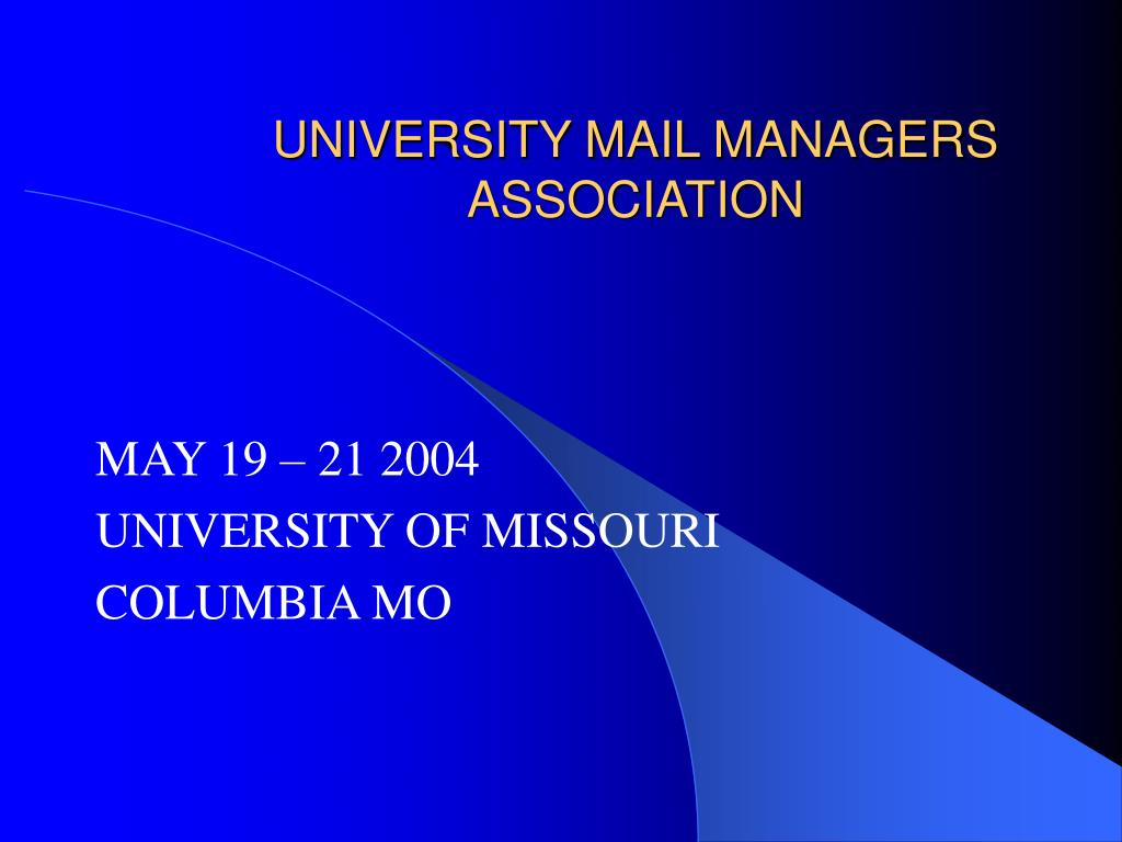 university mail managers association l.