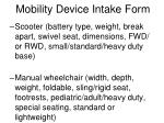 mobility device intake form8