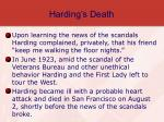 harding s death