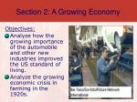 section 2 a growing economy