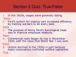 section 2 quiz true false