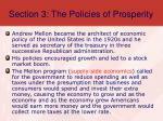 section 3 the policies of prosperity