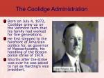 the coolidge administration