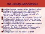 the coolidge administration8