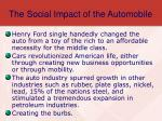 the social impact of the automobile
