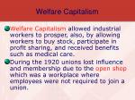 welfare capitalism
