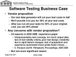 software testing business case1