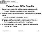 value based gqm results
