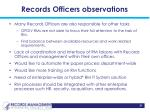 records officers observations