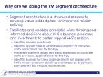 why are we doing the rm segment architecture