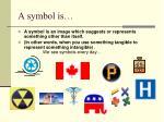 a symbol is