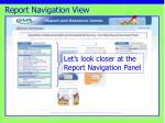 report navigation view