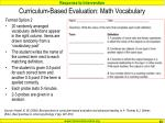 curriculum based evaluation math vocabulary83