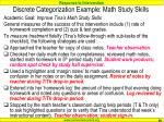 discrete categorization example math study skills89