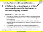 formative assessment essential questions50
