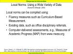local norms using a wide variety of data stewart silberglit 2008