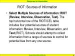riot sources of information