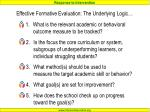 effective formative evaluation the underlying logic