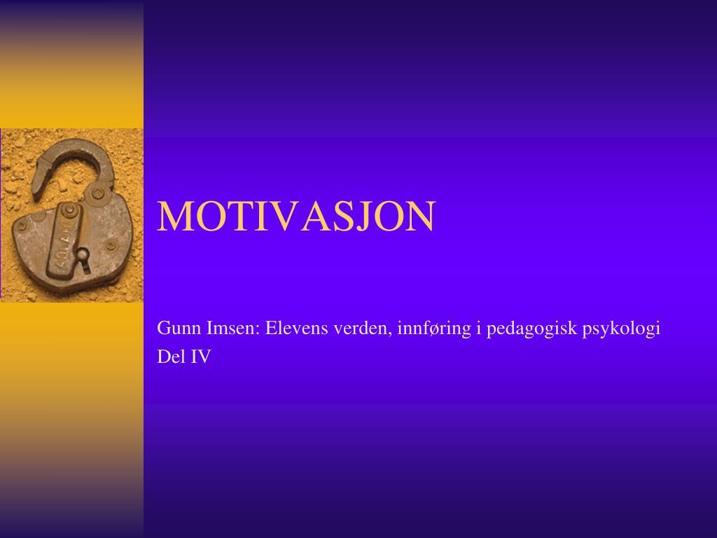 motivasjon l.