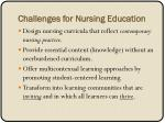 challenges for nursing education
