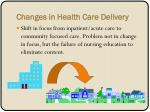 changes in health care delivery