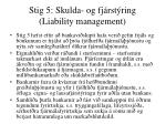 stig 5 skulda og fj rst ring liability management