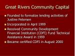 great rivers community capital