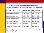 associations between past year ipv perpetration and sexual risk and fatherhood
