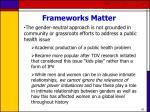 frameworks matter42