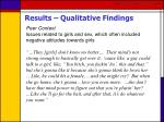 results qualitative findings