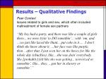 results qualitative findings36