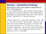results qualitative findings38