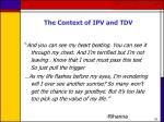 the context of ipv and tdv