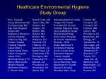 healthcare environmental hygiene study group