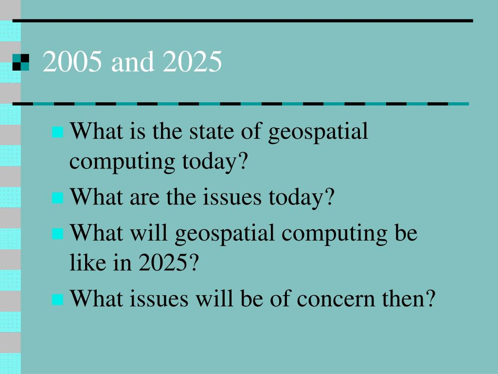 What is the state of geospatial computing today?