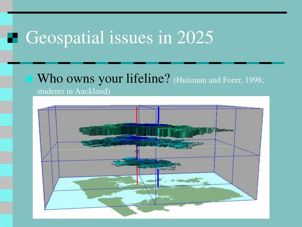 Geospatial issues in 2025