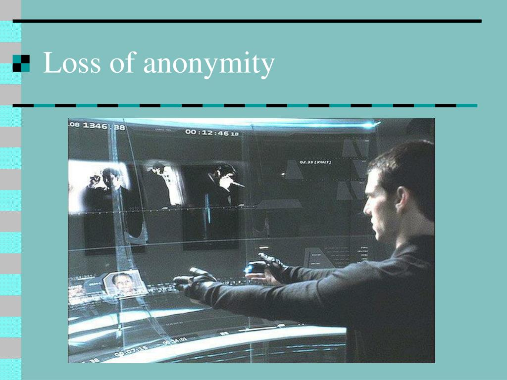 Loss of anonymity