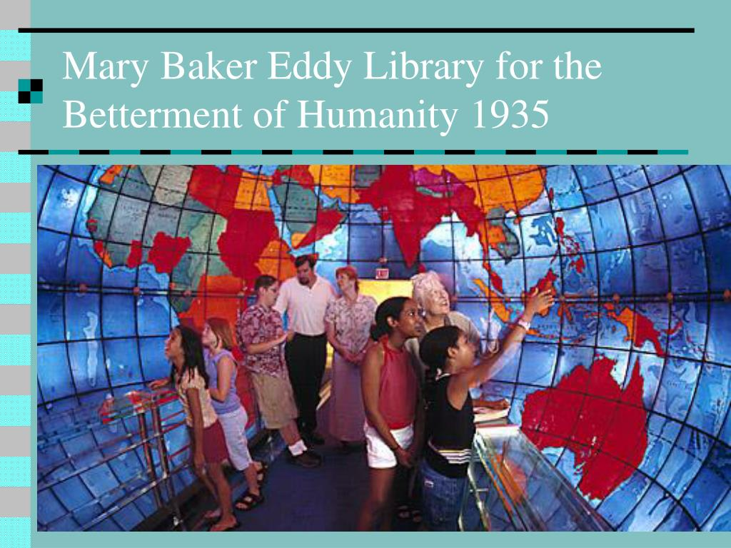 Mary Baker Eddy Library for the Betterment of Humanity 1935