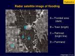 radar satellite image of flooding