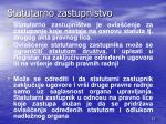statutarno zastupnistvo