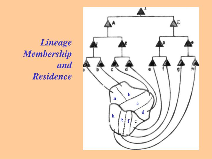Lineage Membership and Residence