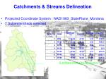 catchments streams delineation