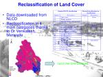 reclassification of land cover