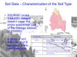 soil data characterization of the soil type